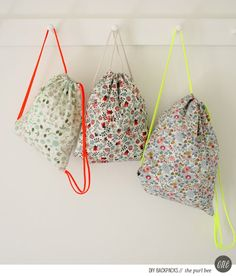 Corinne's Thread: Liberty Backpacks - The Purl Bee - Knitting Crochet Sewing Embroidery Crafts Patterns and Ideas! no diy Purl Bee, Sewing Hacks, Sewing Tutorials, Sewing Crafts, Sewing Projects, Diy Projects, Bag Sewing, Free Sewing, Sewing Kits