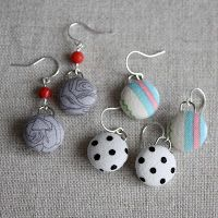 Tutorial on Fabric Button Earrings