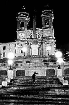 The Spanish Steps, Rome. The BEST place to people watch/hang out at night.