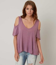 42aacbd6e3f1bf Free People Cold Shoulder Top - Women s Shirts Blouses in Purple