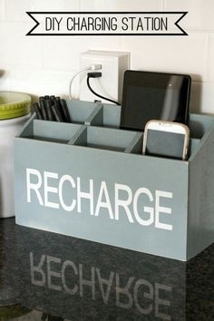 Cool Recharging place for - a tablet, phone, and any other devices!