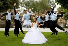 DANIELLE: I hate the picture but the like idea of the groomsmen jumping behind the bride