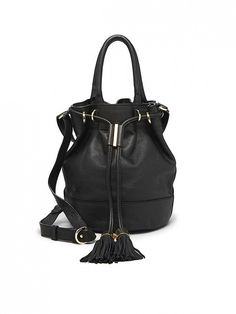 See by Chloé Vicki Bucket Bag ($395)  A great black bucket bag is one piece I find myself wearing all the time in the fall and winter. This gorgeous one from See by Chloé will definitely do the trick.