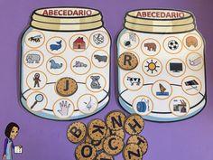 El abecedario de galletas, para trabajar el abecedario y la discriminación de grafemas. www.maestrosdeaudicionylenguaje.com