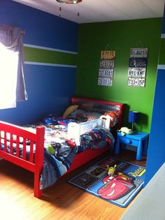 Kids 39 room ideas on pinterest superhero room boy rooms for Blue and green boys bedroom ideas
