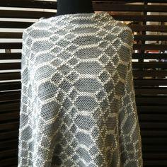Diamond Knit Gray Poncho, $39.95