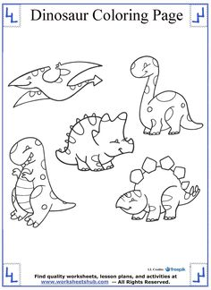 Cute and Cuddly Dinosaur Coloring Page Dinosaur Coloring Pages, Cute Coloring Pages, Coloring Apps, Printable Coloring Pages, Free Coloring, Coloring Pages For Kids, Coloring Sheets, Kids Coloring, Cross Stitch For Kids