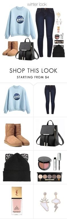 """""""Untitled #577"""" by emily147147 ❤ liked on Polyvore featuring Dorothy Perkins, UGG, Silver Spoon Attire, Bobbi Brown Cosmetics and Yves Saint Laurent"""