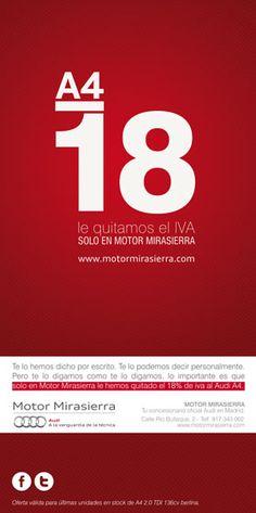Audi flyer, designed by Allende Branding