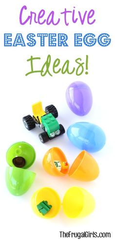 """Looking for creative ideas for stuffing those Easter Eggs and Easter Baskets?? Check out these tips from your frugal friends shared on The Frugal Girls Facebook Page! Carla said: """"My son LOVES Lego..."""