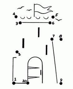 Simple Castle Tower for God Sighting Stone Labels Tracing Worksheets, Preschool Worksheets, Preschool Activities, Dot To Dot Printables, Kids Castle, Christmas To Do List, Numbers For Kids, Montessori Math, Pre Writing