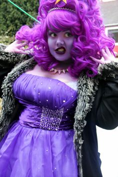 "LSP cosplay by Hana, UK ""Sorry about the coat, I wanted to go without but it was too nippy! ANYWAY I did a test of my LSP cosplay so far and I'm pretty pleased!! I need some purple and gold eye makeup and to sew some gold stars onto the dress and I'm done! I can't wait to wear her with my fricking amazing group < 3 "" http://cod-tier.tumblr.com/post/46108231085"