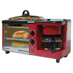 Coffee Maker, Toaster Oven, and Griddle with Lid Breakfast Station Breakfast Station, Breakfast Plate, Savory Breakfast, Black Toaster, Camping Coffee, How To Make Coffee, Outdoor Kitchen Design, Remodeled Campers, Kitchen Gadgets