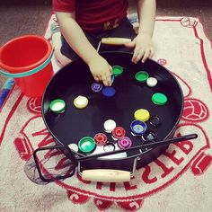 Water lid scooping Kmart play tray
