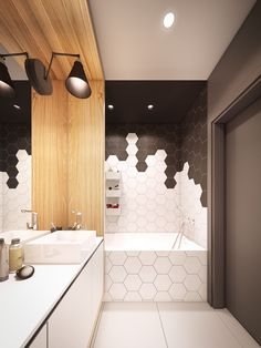 Hexagons available in Porcelain and Ceramic at La Nova tile