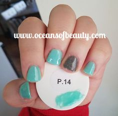 P.14 & P.20 (accent nail) EZdip Gel Powder. DIY EZ Dip. No lamps needed, lasts 2-3 weeks! Salon Quality done right in your own home! For updates, customer pics, contests and much more please like us on Facebook https://www.facebook.com/EZ-DIP-NAILS-1523939111191370/ #ezdip #ezdipnails #diynails #naildesign #dippowder #gelnails #nailpolish #mani #manicure #dippowdernails