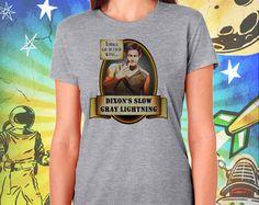 Daryl Dixon's Slow Gray Lightning Walking Dead Women's Gray Tee