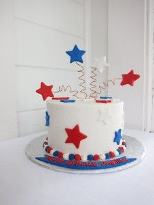 4th of July birthday theme... This years birthday cake maybe?!?