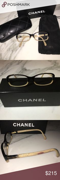 Chanel Eyeglasses. Brown/Bone. CH3181 c1196 Chanel frames RX eyeglasses. Currently includes reading RX +1.0. CHANEL Accessories Glasses