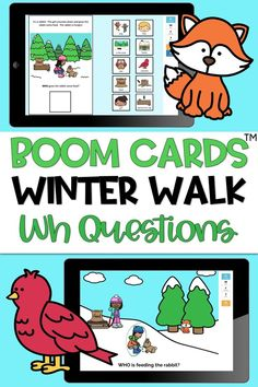 DIGITAL - NO PRINT BOOM CARDS! This speech and language resource includes a 10-page adapted book targeting answering simple wh questions (what, where, who). On each page, students drag the correct… More Learning Cards, Learning Activities, Sentence Strips, Wh Questions, Speech Room, Language Development, Speech And Language, Woodland Animals, Task Cards