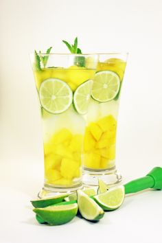 FAT BURNING Mango Mojito Water! LOSE WEIGHT FAST with this DETOX DRINK... best part you still get to eat!