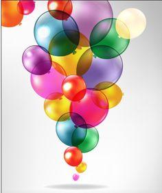 Colorful Balloon mix design vector 03