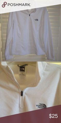 THE NORTH FACE 1/4 Zip FLEECE WHITE SZ M Basic lightweight fleece, comfy TKA 100 The North Face Jackets & Coats