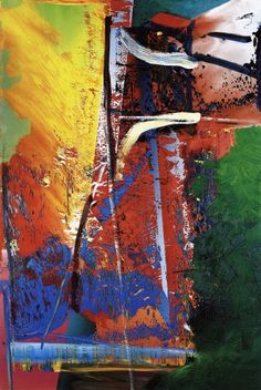 Gerhard Richter , Oil on Canvas I like Richter's choice and layering of colours and his wide variety of mark making and textures created by his application of paint. Gerhard Richter, Oil Painting Abstract, Action Painting, Abstract Art, New European Painting, Pop Americano, Jean Arp, Francis Picabia, Art Moderne