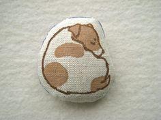 MINIATURE DOLL - hand lino Printed, Jack Russell Terrier  TrottingHackPress