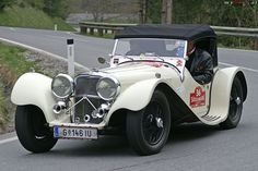 Being the dreamer that I am, I can easily picture myself tearing about the countryside in this beautiful Jaguar SS 100