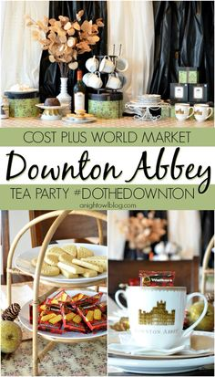 Downton abbey party collage inspiration