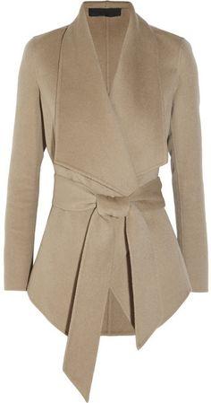 Donna Karan Belted cashmere jacket | #Chic Only #Glamour Always