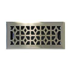 allen + roth Marquis Satin Nickel Steel Floor Register (Rough Opening: 10-in x 4-in; Actual: 11.44-in x 5.36-in)