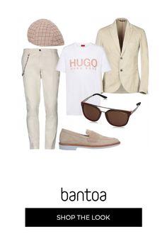 6637bba7e923 Trendy in giacca beige e t-shirt  outfit uomo Trendy per tutti i giorni