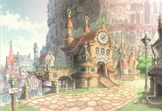 Kusanagi Studio Final Fantasy IX Artwork Images - The Final Fantasy Wiki - 10 years of having more Final Fantasy information than Cid could research! Final Fantasy Ix, Fantasy City, Fantasy House, Fantasy Places, Fantasy World, Fantasy Background, Art Background, Environment Concept Art, Environment Design