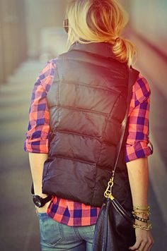 Vest and plaid