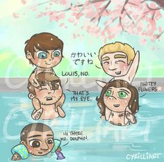 :) I love the person that makes these cute little cartoons! Also what is Niall saying lol?