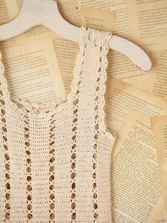 Easy Crochet Tank Top Patterns   Free People Vintage Crochet Mini Dress. Simple patterns that can be ...