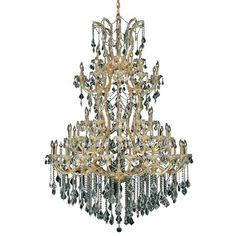 Maria Theresa 61 Light Crystal Chandelier Finish / Crystal Color / Crystal Trim: Gold / Golden Teak (Smoky) / Strass Swarovski - http://chandelierspot.com/maria-theresa-61-light-crystal-chandelier-finish-crystal-color-crystal-trim-gold-golden-teak-smoky-strass-swarovski-674476669/