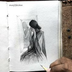 Girly Drawings, Dark Art Drawings, Art Drawings Sketches Simple, Pencil Drawing Images, Abstract Pencil Drawings, Indian Art Paintings, Modern Art Paintings, Pencil Sketches Landscape, Watercolor Art Lessons