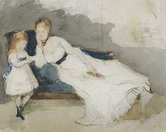 BERTHE MORISOT (1841-1895) Impressionist Art, Impressionism, Modern Art, Contemporary Art, Rare Wine, Berthe Morisot, Art Day, American Art, New Art