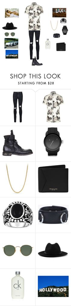 """L.A"" by carolinestolen ❤ liked on Polyvore featuring AMIRI, River Island, Ann Demeulemeester, Diesel, David Yurman, Michael Kors, Phillip Gavriel, Dsquared2, Ray-Ban and Topman"