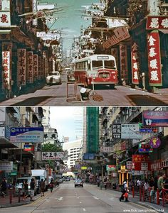 'Before and After' Photos of Old & New Hong Kong