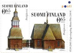 Petäjäveden kirkko Build Something, Cathedrals, Postage Stamps, Finland, Denmark, Presents, Retro, Country, Holiday Decor