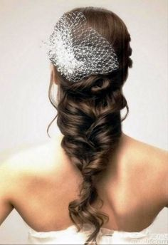 Long Bridal Hairstyles With Veil. For more bridal and other cool hairstyles, go to www.hairstylescraze.com