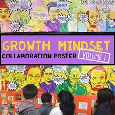 This fun, collaborative activity results in a large poster that features inspirational quotes from famous persons meant to encourage a growth mindset. This growth mindset poster features Martin Luther King Jr., Amelia Earhart, Abraham Lincoln, Nelson Mandela, Marie Curie, Rosa Parks and Albert Einstein.