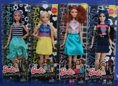2015-2016-LOT-OF-4-BARBIE-FASHIONISTAS-NRFB-dolls-Beautiful-Curvy-Tall-Colorful