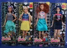 2015-2016-LOT-OF-4-BARBIE-FASHIONISTAS-NRFB-dolls-Beautiful-Curvy-Tall-Colorful