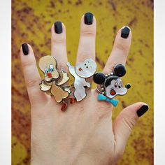 Vintage Zuni Tweety Bird, Casper and Mickey Mouse rings ✨ DM for info.