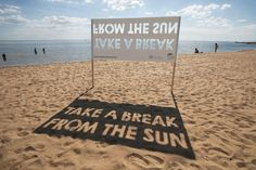 A clever route of campaigning for skin cancer awareness.
